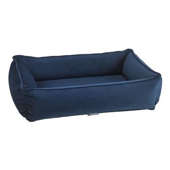 Navy Blue Microvelvet Urban Lounger Pet Dog Bed