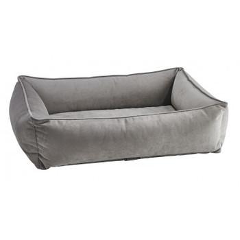 Pebble Grey Microvelvet Urban Lounger Pet Dog Bed