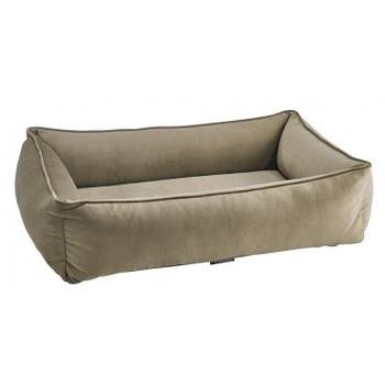 Toffee Microvelvet Urban Lounger Pet Dog Bed