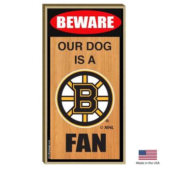 Boston Bruins Wood Sign