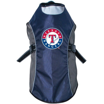 Texas Rangers Water Resistant Reflective Pet Jacket