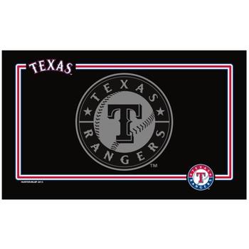 Texas Rangers Black Pet Bowl Mat
