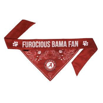 Alabama Crimson Tide Pet Reversible Paisley Bandana
