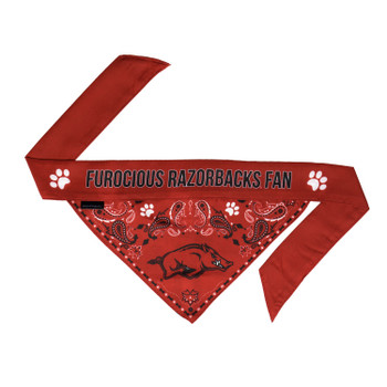 Arkansas Razorbacks Pet Reversible Paisley Bandana