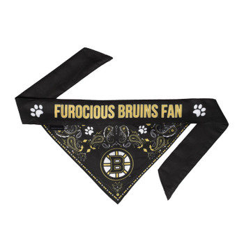 Boston Bruins Pet Reversible Paisley Bandana