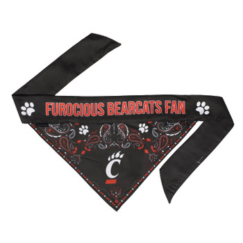 Cincinnati Bearcats Pet Reversible Paisley Bandana