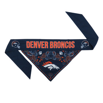 Denver Broncos Pet Reversible Paisley Bandana