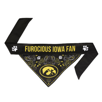 Iowa Hawkeyes Pet Reversible Paisley Bandana