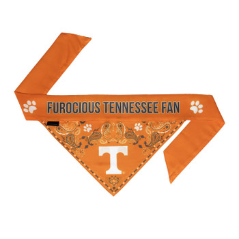 Tennessee Volunteers Pet Reversible Paisley Bandana