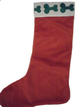 Velvet Merry Christmas Stockings Bone Design