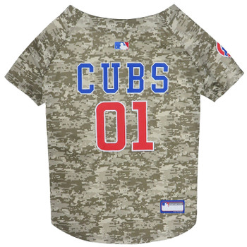 Chicago Cubs Pet Camo Jersey
