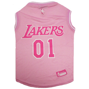 Los Angeles Lakers Pet Pink Jersey