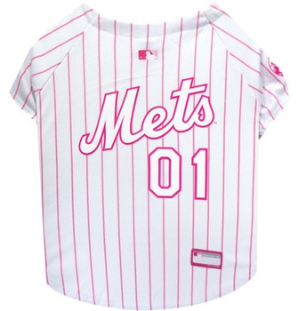 New York Mets Pink Pet Jersey