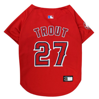 Mike Trout #27 Pet Jersey