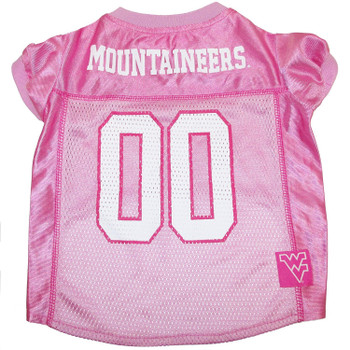 West Virginia Mountaineers Pink Pet Jersey