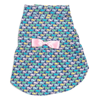 Multi Whales Pet Dog Dress - Small - Big Dog