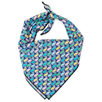 Multi Whale Dog Tie Bandana