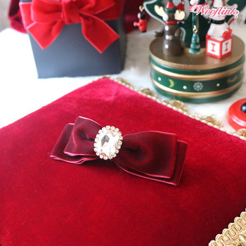 Almost Famous Velvet Hair bow Pet Barrettes