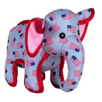 Patriotic Elephant Dog Toy - 2 Sizes