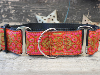 Kashmir Medina Spice Extra Wide Dog Collar - Personalized Buckle