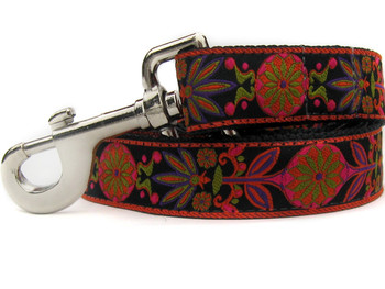 Venice Ink Extra Wide Dog Collar - Personalized Buckle