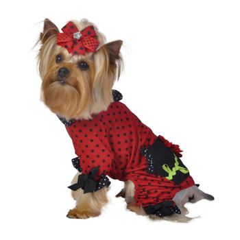 Polka Dot Flower Pet Dog Jammies