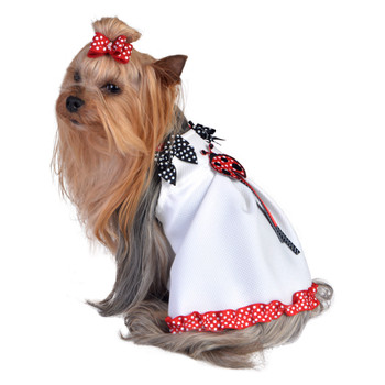 Ladybug Applique Pet Dog Dress