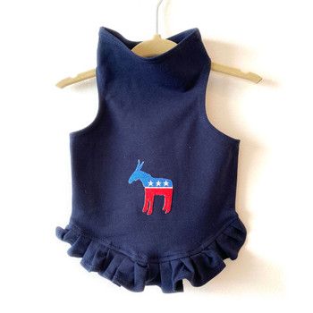 Democratic Donkey on Navy Dog Dress