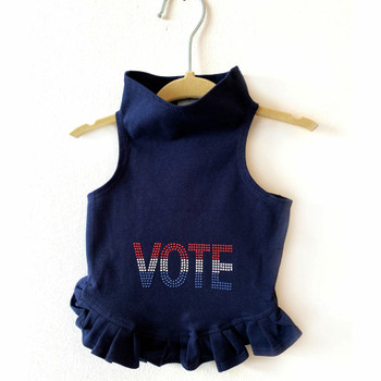 VOTE in Red, White, Blue Studs Dog Dress