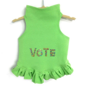 VOTE in Multi-colored Studs Dog Dress