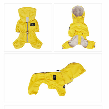 Magagio Dog Raincoat Overalls - Yellow