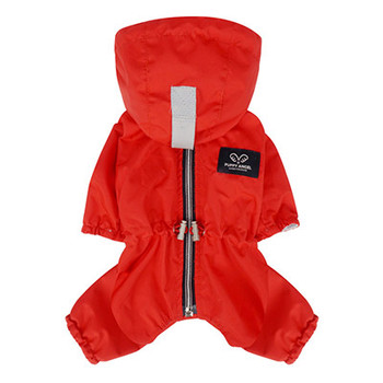 Magagio Dog Raincoat Overalls - Red