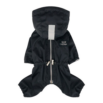 Magagio Dog Raincoat Overalls - Black