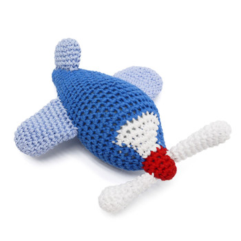 Airplane PAWer Squeaker Dog Toy