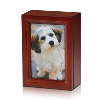 4″ x 6″ Birch Wood Photo Frame Pet Urn in Cherry – 45 cu. in.