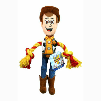 Disney Toy Story 4 Woody With Rope Dog Toy