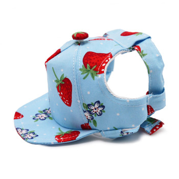 Strawberry Pet Dog Visor / Hat