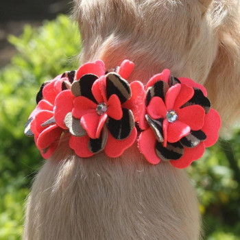 Sarah Flowers Dog Collar & optional Leash