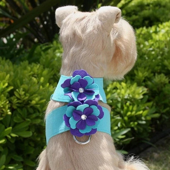 Violet Flowers Tinkie Dog Harness