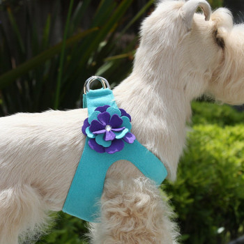 Violet Flowers Dog Step In Harness