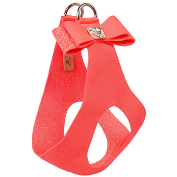 Electric Pink Crystal Stellar Big Bow Dog Step in Harness