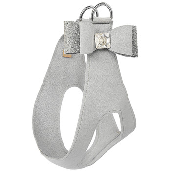 Platinum Crystal Stellar Big Bow Dog Step in Harness
