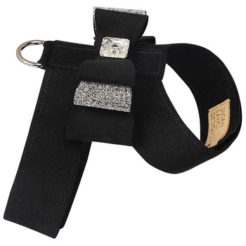 Black Big Bow Tinkie Dog Harnesses by Susan Lanci
