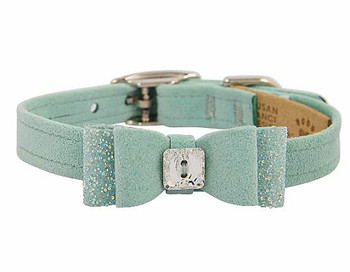 Mint Crystal Stellar Big Bow Collar