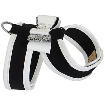 Black Crystal Stellar Really Big Bow Tinkie Harness with Trim and Tuxedo Bow
