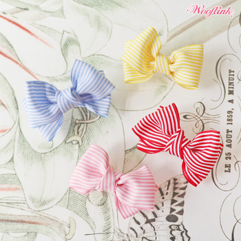 Wooflink Stripe Dolly Bow Pet Barrettes