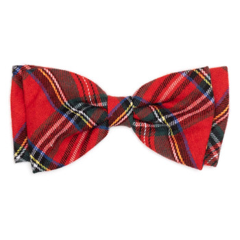 Red Plaid III Pet Dog Bow Tie