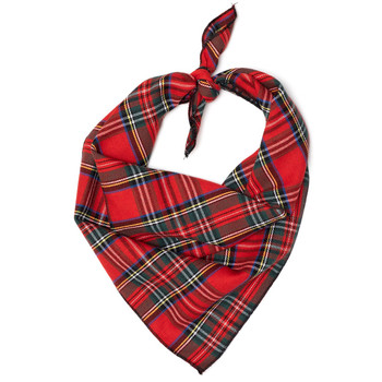 Red Plaid III Dog Tie Bandana