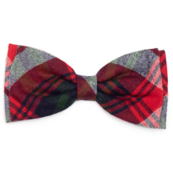 Red, Green & Navy Plaid Pet Dog Bow Tie