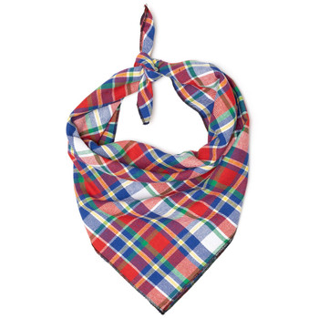 Red, Hunter & Blue Dog Tie Bandana